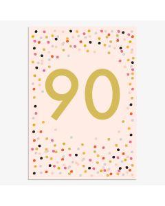 AGE 90 Card - Metallic Spots