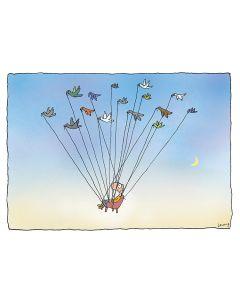 Greeting Card - Birdmobile by Michael Leunig