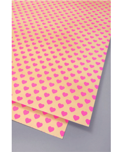 Folded Wrapping Paper - Pink Hearts