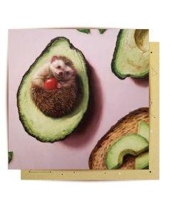 Greeting Card - Hedgehog Avocado