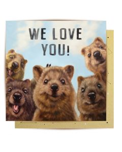 Greeting Card - We Love You (Quokkas)