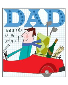 """""""DAD you're a star!"""" greeting card"""