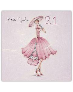 'Tre's Jolie 21' Card