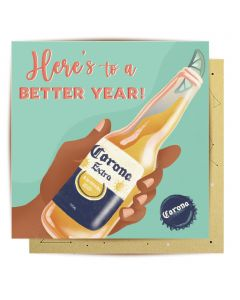 Greeting Card - Here's to a better year!