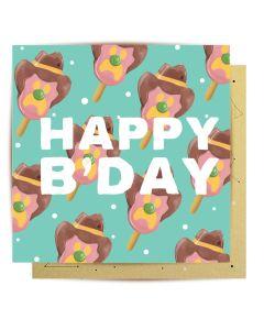 Birthday Card - Bubble-O-Bill