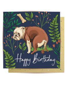Birthday Card - Dog Poo