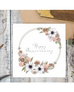 Anniversary - Pretty flower circle