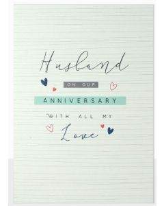 Husband Anniversary - 'With all my love'