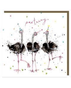Three emus 'partaaay'
