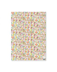 Alphabet Folded Wrapping Paper