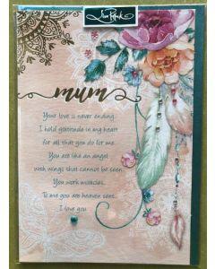 MUM - Lisa Pollock flowers & feather