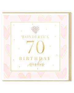 AGE 70 Card - Jewelled Heart