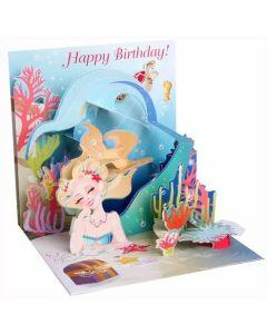 3D Pop-Up Card - Mermaid Birthday