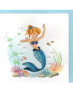 Quilling Card - Mermaid
