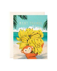 THANK YOU Card - Monkey & Bananas