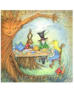 The Mad Hatter's Tea-Party - card