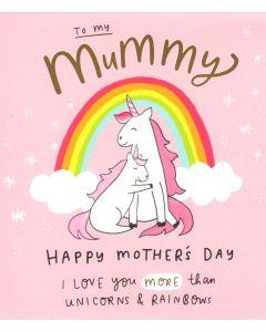 Mother's Day Card - Unicorns & Rainbows