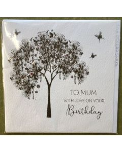 MUM Birthday - Gold tree with gems