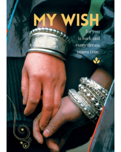 'My Wish For You Is Each And Every Dream Comes True.' Card