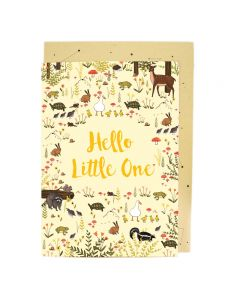 BIG Card - 'Hello Little One' (Forest Friends)