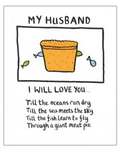'My Husband...' Card