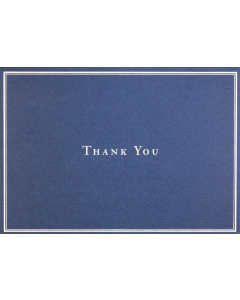 Navy Blue Thank You Notecard Box