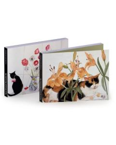 Notecard wallet - Cats & Flowers by Dame E. Blackadder
