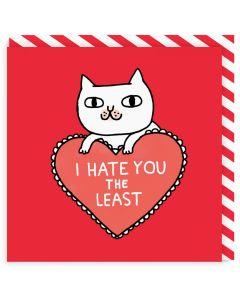 Greeting Card - I Hate You the Least