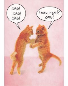 Birthday Card - 'OMG! OMG! OMG!'