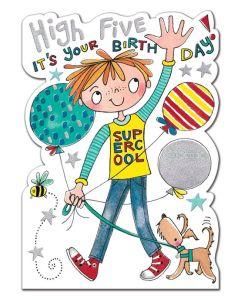Birthday Card - High Five