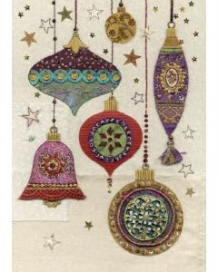 Ornate Baubles Christmas Card