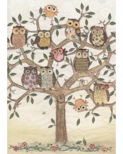 Owl Family Tree Card