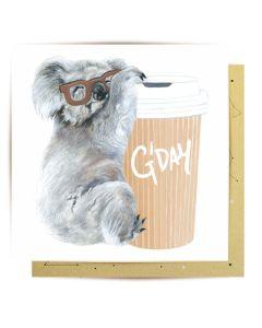 Greeting Card - Koala & Coffee