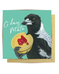 Greeting Card - Meat Pie Magpie