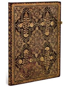 Mahogany - 'Fall Filigree' Grande size Unlined Journal