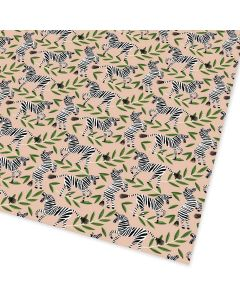Folded Wrapping Paper - Zebras