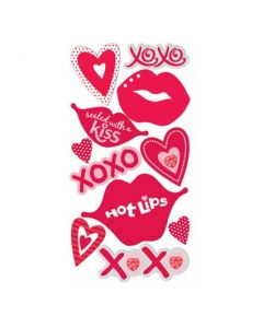Lips, XOXO, Heart Stickers