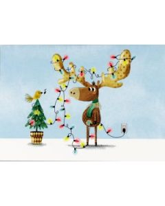 Deck the Antlers box of 20 Christmas cards