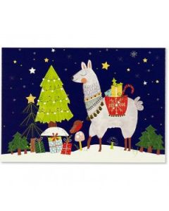 Fa La Llama Box of 20 Christmas Cards