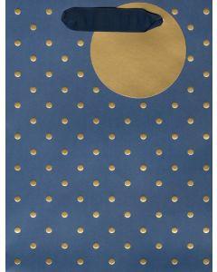 Gift Bag (Medium) - Gold Spots on Blue