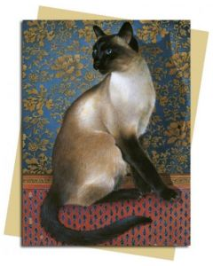 Siamese cat - 'Phuan on a Chinese carpet'