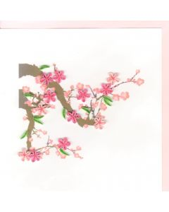 Quilling Card - Pink Blossom Branch