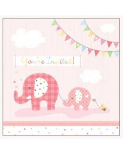 Jumbo Joy Girl Invitations