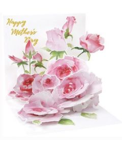 3D Pop-Up Mother's Day Card - Pink Roses
