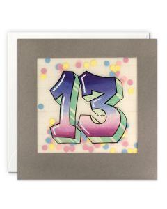 AGE 13 Card - Graffiti
