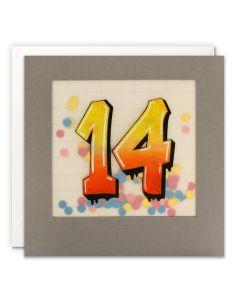 AGE 14 Card - Graffiti