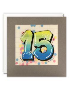 AGE 15 Card - Graffiti