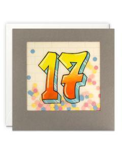 AGE 17 Card - Graffiti