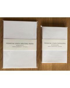 Premium Linen Writing Set - White