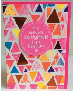 'To A Special Daughter Happy Birthday' Card